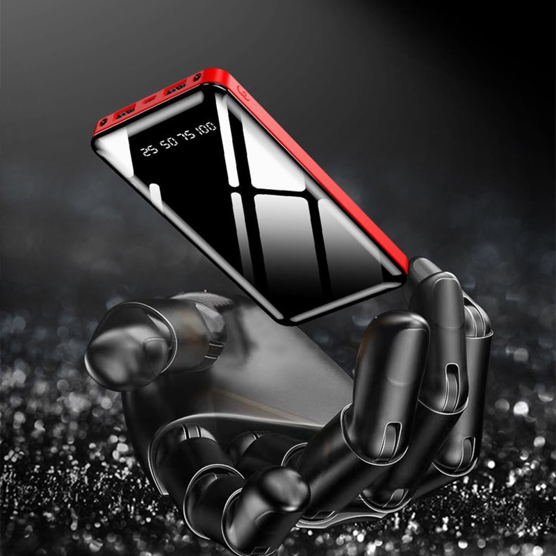 20000mAh Power Bank Portable Charging Powerbank 20000 mAh Poverbank External Battery Pack Charger Fo