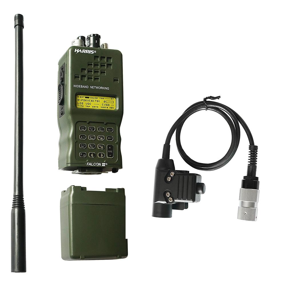 AN/PRC-152 PRC 152 هاريس الدمية راديو ، العسكرية تخاطب لاسلكي نموذج لراديو Baofeng ، لا وظيفة + U94 PTT 6 دبوس التوصيل