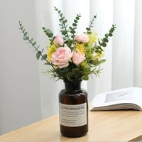 simulation plants houseplant wedding bouquets dried flower branch home decoration ornaments artificial sweetheart rose white