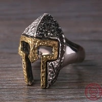 925 sterling thai silver men spartan warrior helmet adjustable ring gift fashion jewelry