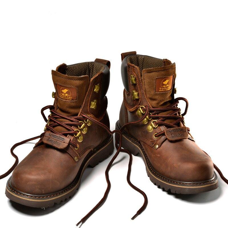 Zapatos de senderismo para hombres botas de Trekking para hombres zapatillas transpirables de cuero genuino zapatos tácticos de goma deporte para hombre Botas de caza