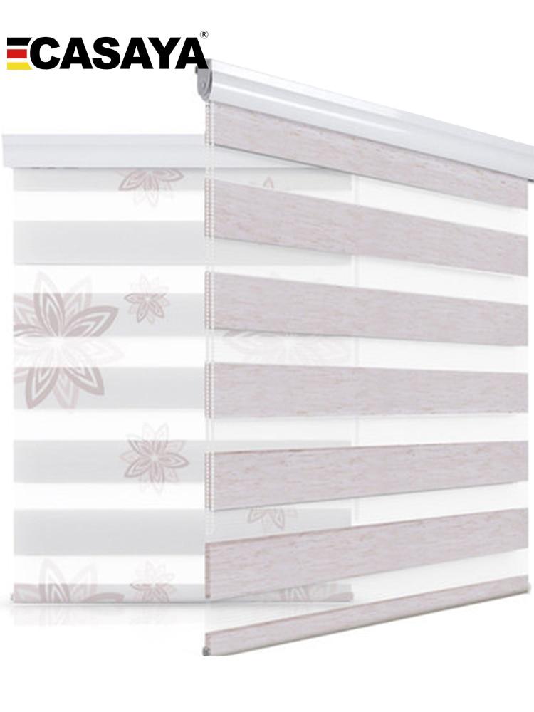 Высококачественные Жалюзи «Зебра», большая Пылезащитная система, дневные и ночные жалюзи, жалюзи для окон, спальни, гостиной, Роликовые жал...