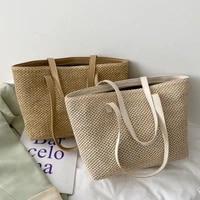 2021 casual straw hand bag summer beach travel bags female large capacity tote bags eco friendly big shopper bag
