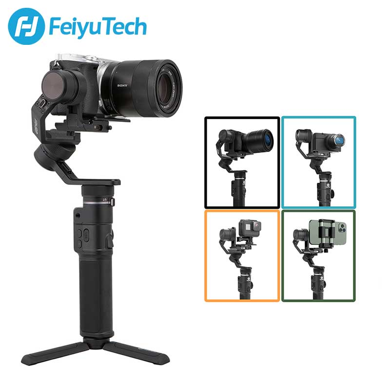 feiyutech vimble 2 3 axis gimbal selfie smartphone handheld extend stabilizer for iphone series huawei p9 samsung s7 fz FeiyuTech 3-Axis G6 Max Handheld Gimbal Camera Stabilizer Feiyu for RX100Ⅳ for GoPro Hero 8 7 6 Smartphone for Canon EOSM50 Used