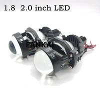 faikai 1 8 inch 2 0 inch bi led lens angel eyes headlight lenses h4 h7 projector led for auto car lights accessories retrofit