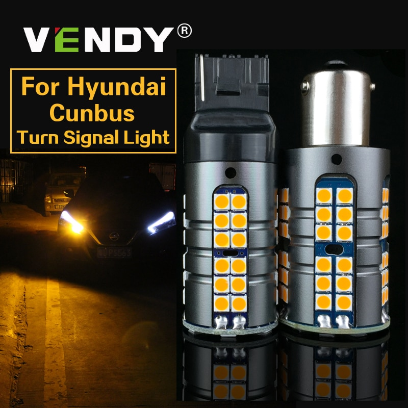 2x carro canbus led turn signal luz py21w bau15s p21w ba15s wy21w lâmpada para hyundai elantra gt tucson genesis coupe acento