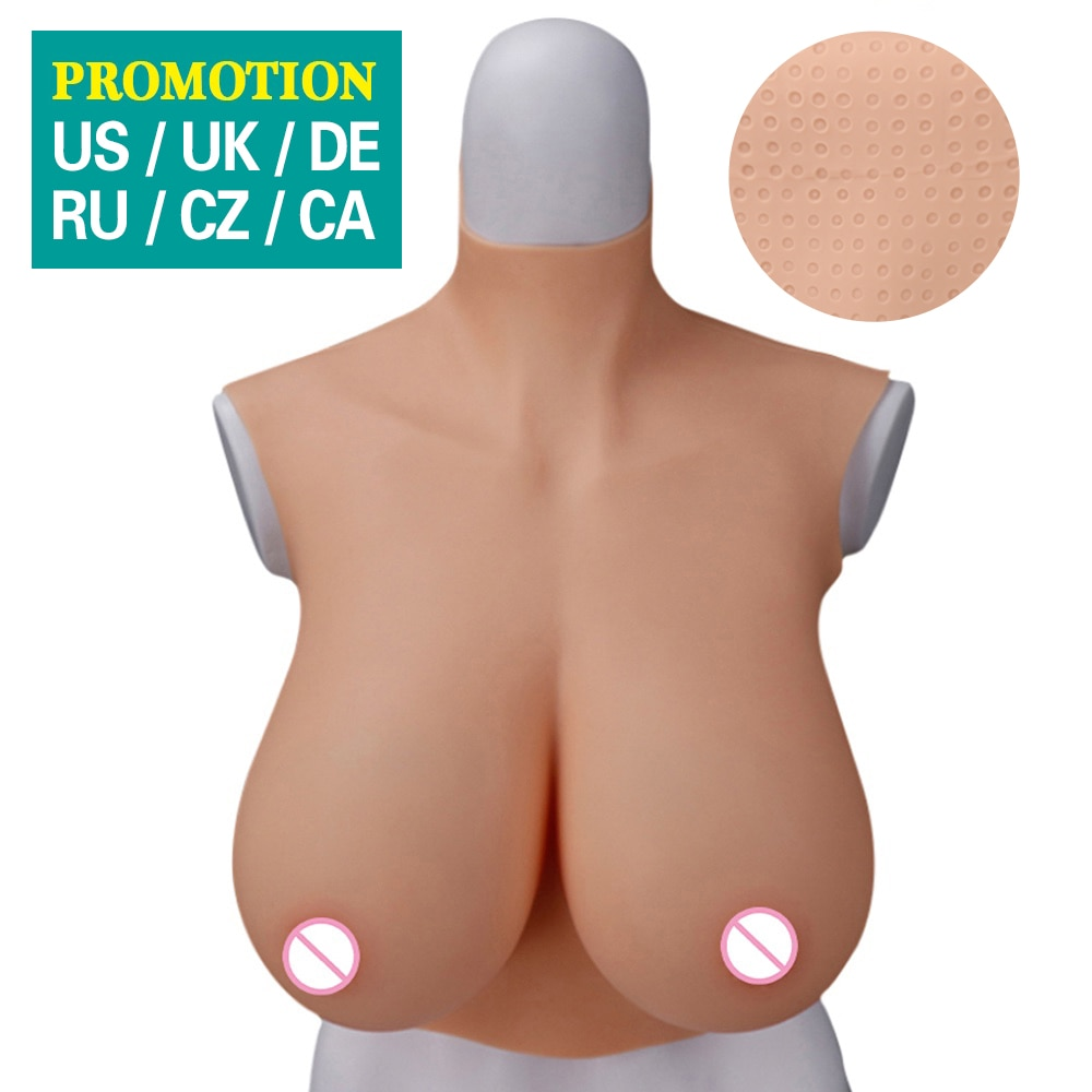 1 pair 3200g g cup full cup one piece silicone breast forms fake artificial boobs tits transgender crossdresser shemale Dokier Crossdresser Silicone Breast Forms Fake Boobs Cosplay Tits Shemale Transgender Drag Queen Meme Transvestite B C D F H CUP