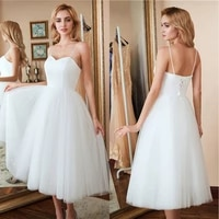 new cheap homecoming dressed short prom dresses tea length two tone white top sweetheart neck with straps tulle skirt party gown