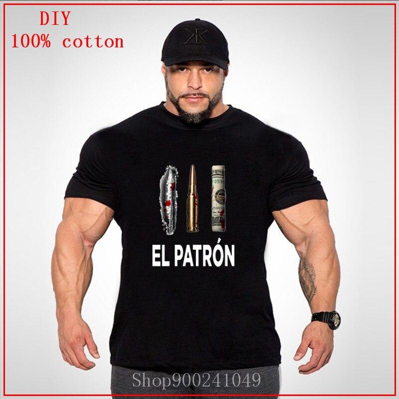 Новинка EL Patron Plata O Plomo белая одежда больших размеров футболки с принтом футболки размера плюс большие размеры Одежда больших размеров 4XL 5XL 6XL