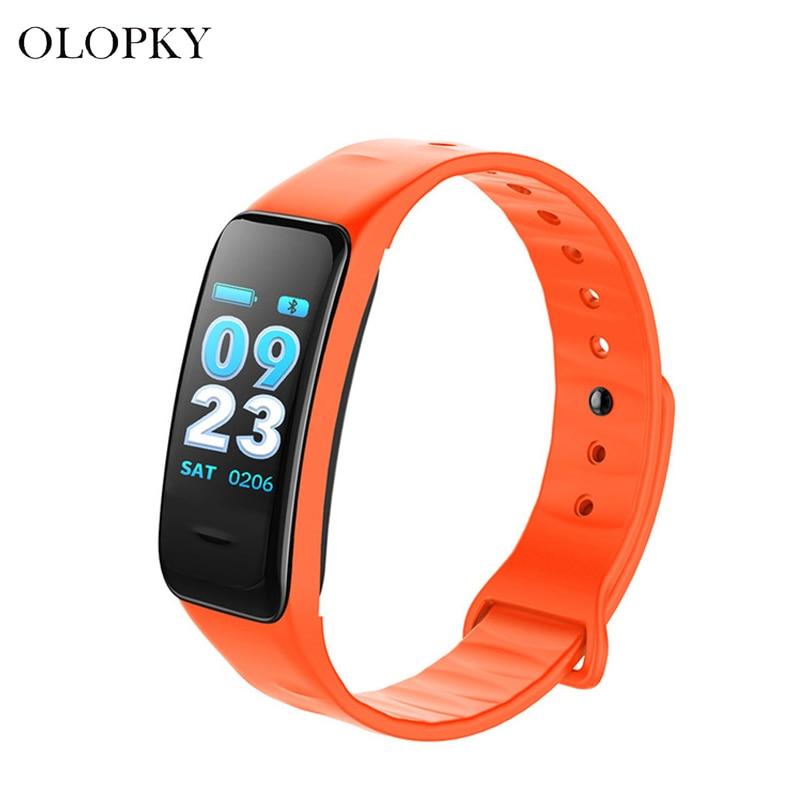 Pantalla a Color C1S pulsera inteligente a prueba de agua pulsómetro Monitor salud Fitness rastreador Bluetooth reloj inteligente para deporte PK MI Band4