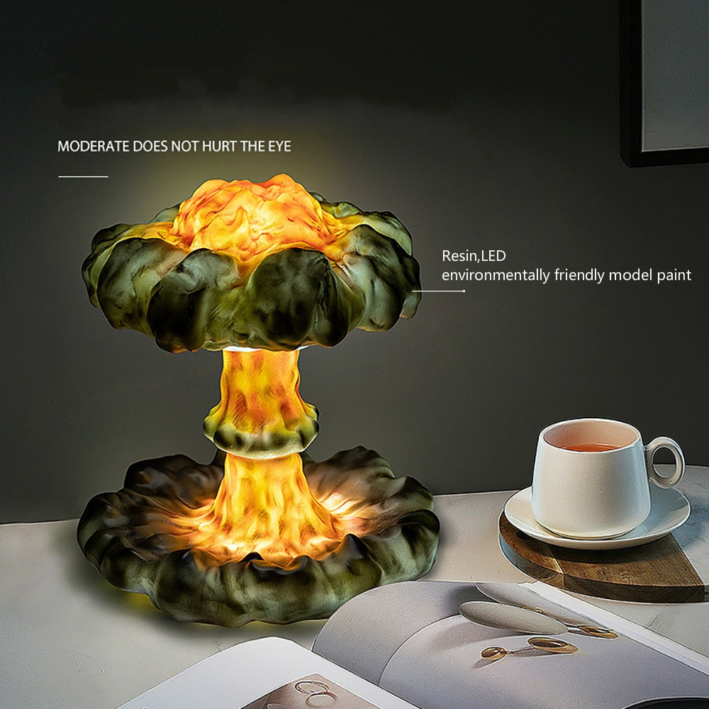 Upgrade DIY Simulated Explosion Mushroom Cloud Led Dimming Children's Night Light Creative Gift 3D Table Lamp for Bedroom Decor enlarge