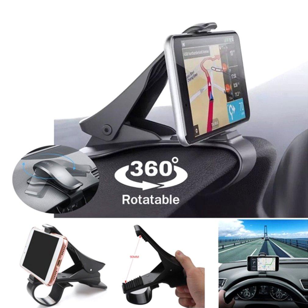 Suporte do telefone do painel carro universal suporte celular 360 rotação para o iphone x xr xs samsung smartphones montagem