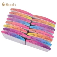 100pcs double sided nail file gradient colorful sandpaper moon style acrylic nail file art tools for manicure pedicure care set