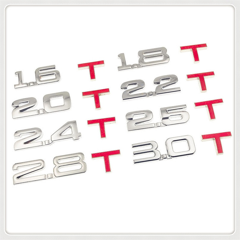 Coche 3D de desplazamiento de 1,6 T, 1,8 T, 2,0 T, 2,8 T pegatina para Chevrolet Trailblazer Onix Tru Orlando código Captiva Aveo vela