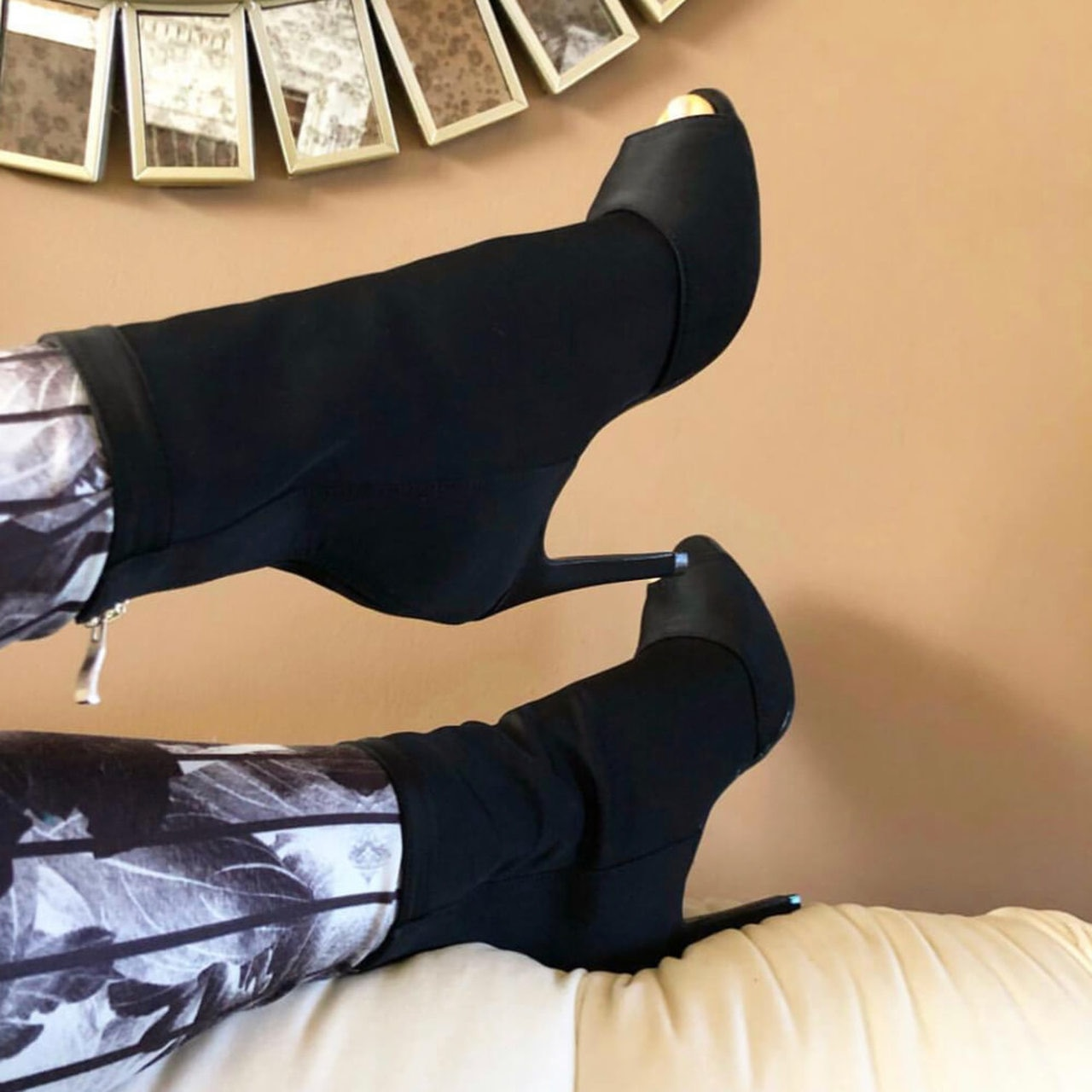 Discounts Sale Jazz Salsa Ballroom Latin Dance Shoes Heel For Dancing Women Training Ladies Boot Black Flock 1022 Summer Boots