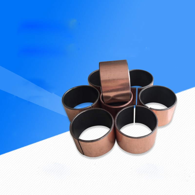 5 uds. Diámetro interior de 18mm diámetro exterior 20mm Apertura de cobre juegos guía de cojinete de aceite casquillo complejo manga 10mm-30mm de alto