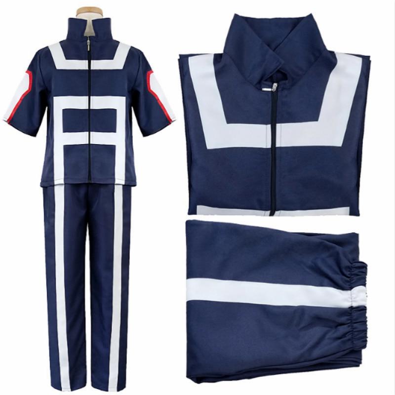 Cosplay boku nenhum herói bakugou katsuki/iida tenya/todoroki shouto anime cosplay traje meu herói academia roupas esportivas topos + calças