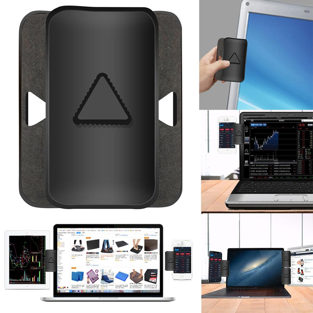 Soporte de Clip de Monitor doble/Triple para portátil, soporte de montaje lateral para Tablet, soporte de soporte para múltiples pantallas