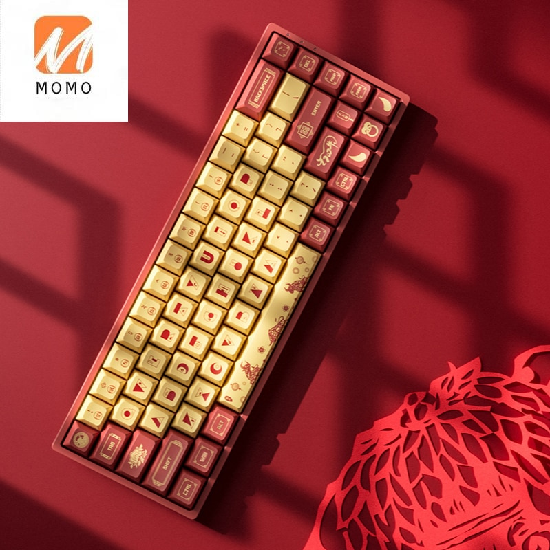 Mechanical Wireless Keyboard with RGB Backlight, 3068 V2, Bluetooth 5.0, Dual-Mode, Wired, Hot Plug Secondary Element Advanced enlarge
