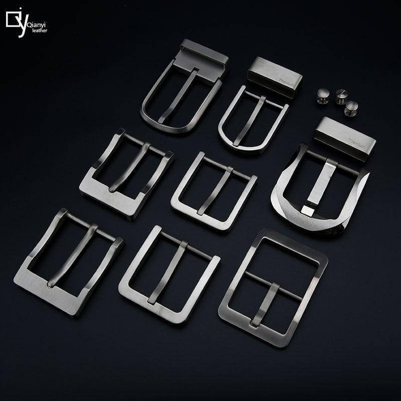 Titanium belt buckles pure titanium belt Buckles Belt Buckles Ladies and Gentlemen Pin Buckles Allergy Belt Buckles
