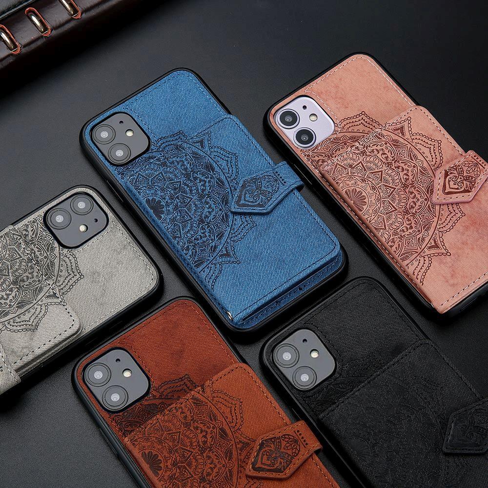 Кожаный чехол-бумажник с цветочным рисунком для IPhone 11 Pro Max, X, Xr, Xs Max, держатель для карт с цветочным рисунком, Магнитный чехол для телефона ...