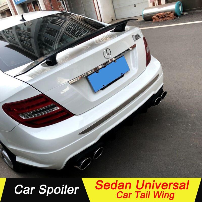 Alerón Universal sedán para mercedes w204 c180 c200 2009-2013 ABS bellamente decorado alerón trasero de maletero universal