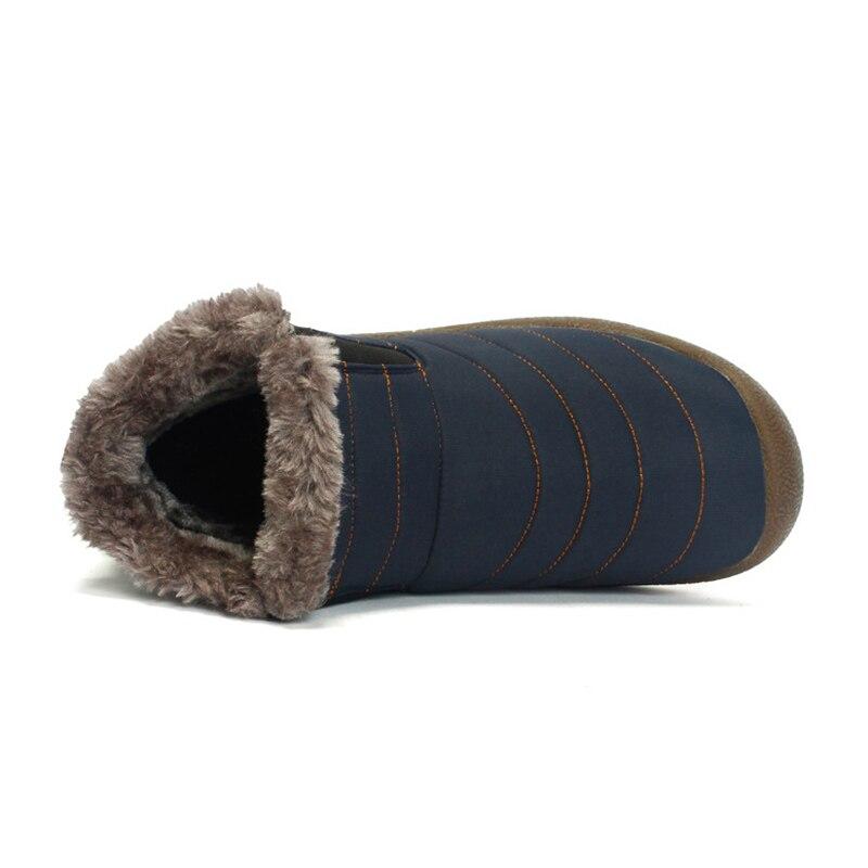 Chaussures de Tennis imperméables pour homme, bottes de neige chaudes en fourrure, baskets à la cheville, à la mode, pour l'hiver