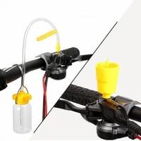 universal bicycle hydraulic bleed adapters set include oil funnel mtb road bike disc brake bleed nylon repair tool accessories