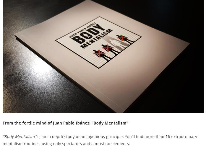 Body Mentalism de Juan Pablo Ibanez-trucos de magia en línea instrucciones