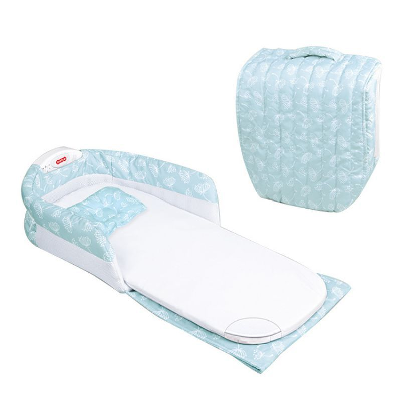 Colchón de algodón cama de bebé medio cercado por niños y niñas en las camas portátil plegable multifunción con música de noche y