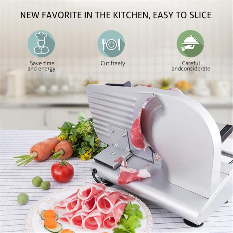 2021 New Electric Slicer Multi-function Meat Slicer Semiautomatic Household Desktop Lamb Slice Vegetables Bread Ham Frozen Meat enlarge