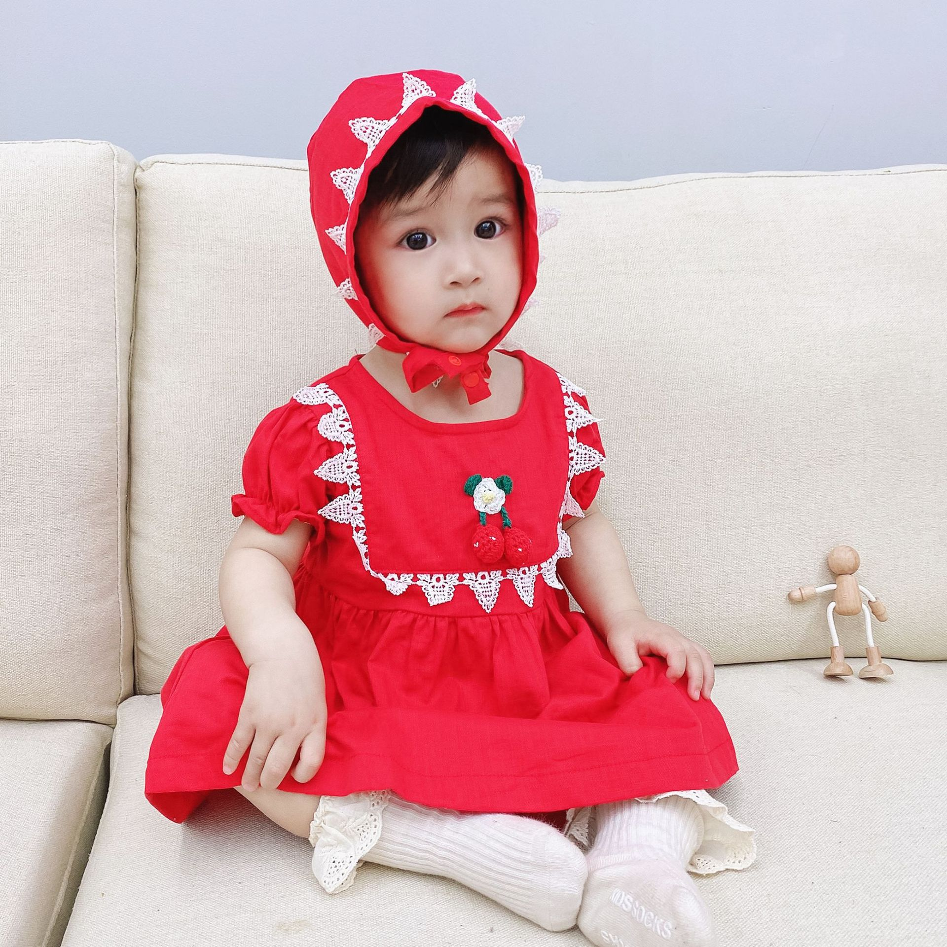 Yg brand children's clothing summer new lace princess skirt elastic waist dress send HAT baby girl s