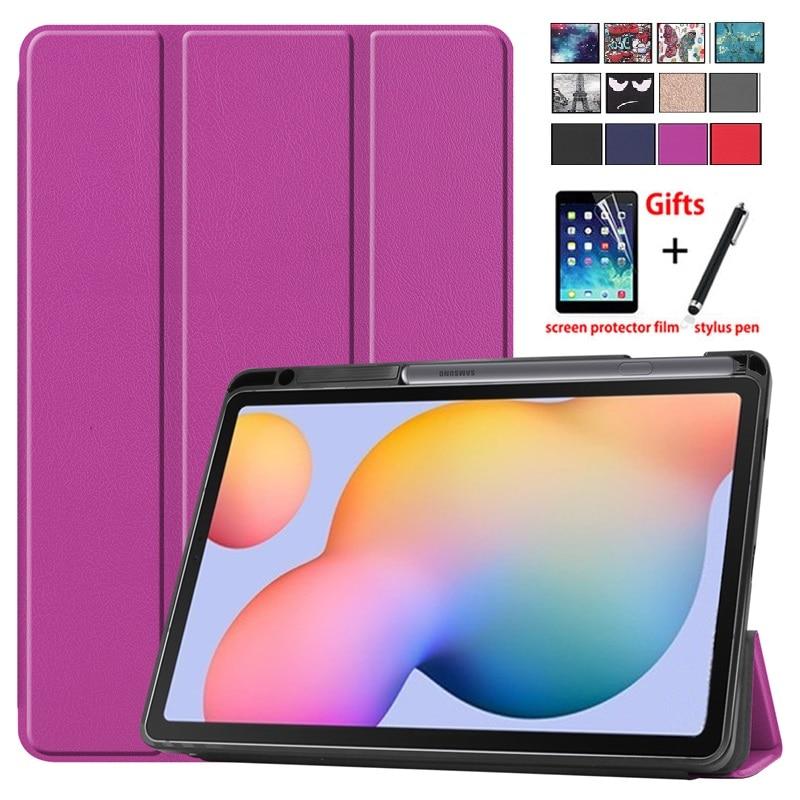 Novedad de 2020, funda Galaxy Tab S6 Lite con soporte para bolígrafo, funda triple, funda Compatible con Samsung Galaxy Tab S6 Lite de 10,4 pulgadas con película