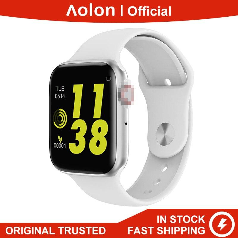 "Aolon W34 5th 44MM reloj ECG PPG 1,54 ""Bluetooth llamada pantalla completamente táctil con pulsómetro Monitor de presión arterial Smartwatch IOS"