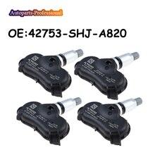 4 PCS For Honda Odyssey Element TPMS Tire Pressure Monitoring Sensor 315MHZ 42753-SHJ-A820 42753SHJA