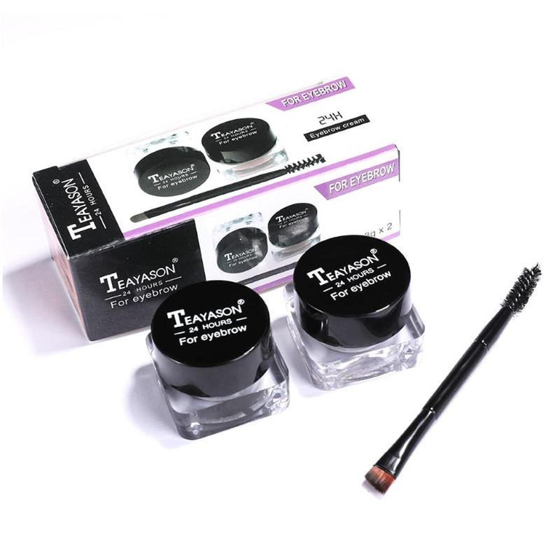 Ceja Natural Gel impermeable ceja maquillaje tinte ojo potenciador de cejas de larga duración crema Gel de pomada para las cejas tinte con cepillo