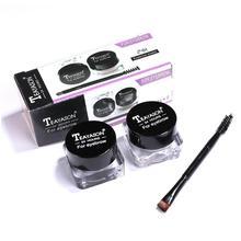 Natural Eyebrow Gel Waterproof Brow Makeup Tint Eye Brow Enhancers Long Lasting Cream Pomade Gel For Eyebrows Dye With Brush