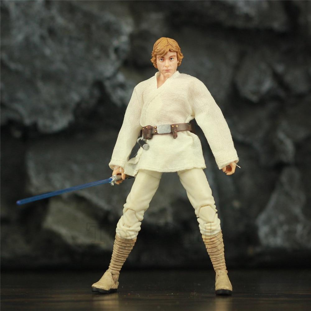 """Star Wars Young Luke Skywalker 6 """"figura de acción serie negra Original coleccionable muñeca Juguetes"""