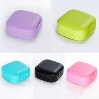 Porte-savon carre Portable couleur bonbon  accessoires de salle de bains  conteneur de stockage de savon en plastique fournitures de voyage