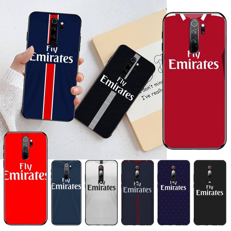 HPCHCJHM Jersey PSG estilo cubierta de negro Funda del teléfono carcasa para Redmi Nota 8 8A 7 6 6A 5 5A 4 4X 4A ir Pro Plus primer