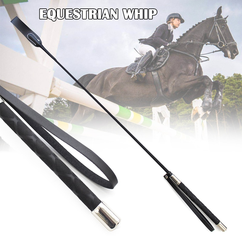 50/70cm Riding Crop Horse Whip PU Leather Horsewhips Lightweight Riding Whips Lash  Toy Horse Riding Sports Accessories