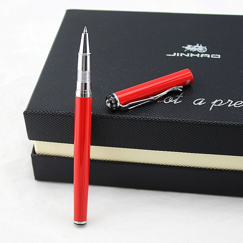 Luxury jinhao Metal Roller Ball Pen 0.7mm Red Office Business Writing Ballpoint Pens Gifts Stationery Supplies Gift pen stainless steel metal ballpoint pen office school supplies stylus pens writing supplies roller ball point pens nice gift