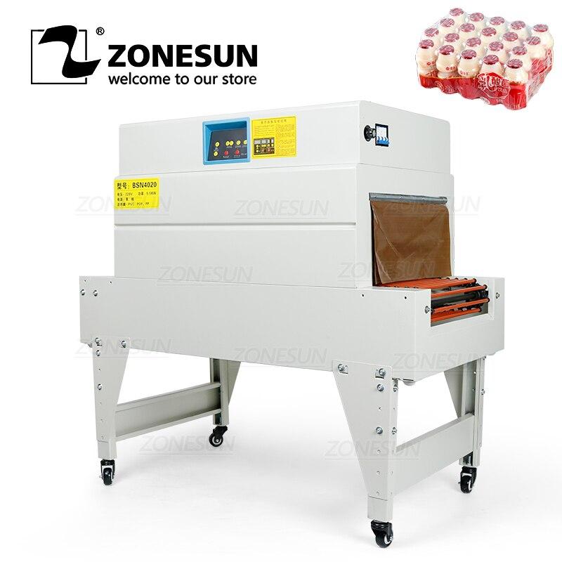 ZONESUN חום לכווץ סרט גלישת מכונת אריזת קוסמטיקה ספר מזון CD קוקי כרטיס אריזה מכונה