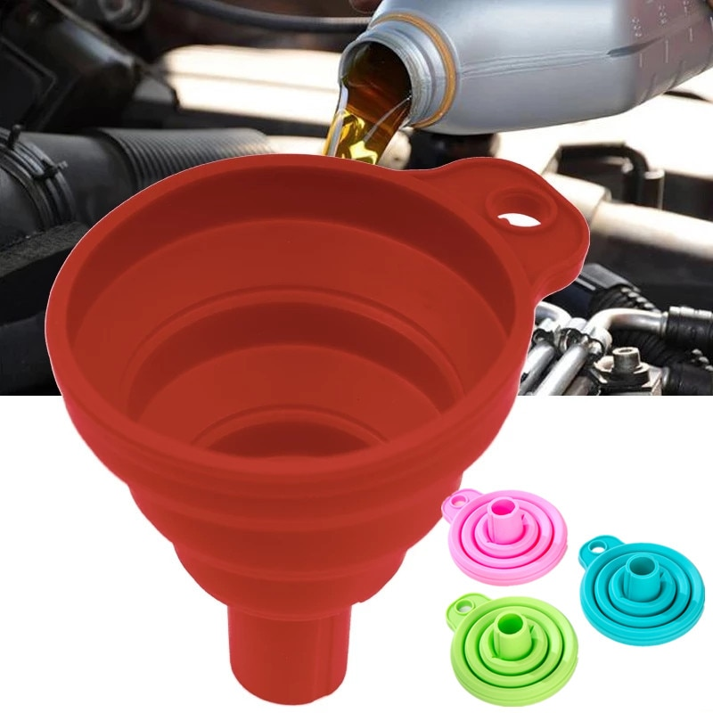Мини-воронка для автомобильного двигателя, складная лабораторная труба для мойки жидкости, бензина, масла, дизельного топлива, замены жидко...