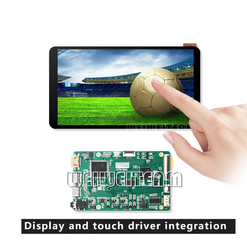 5.5 بوصة 1920*1080 اللمس Lcd شاشة لالروبوت التلفزيون مربع التوت بي 4 3b + عرض أفقي Landcape MIPI التحكم مجلس