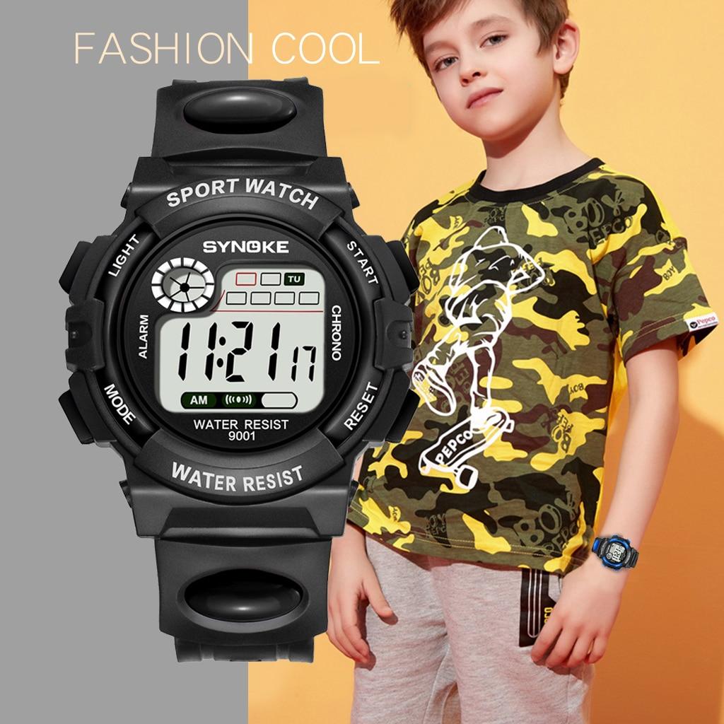 Часы SYNOKE детские, цветные цифровые наручные для мальчиков и девочек, с отображением даты и будильника, с отображением недели