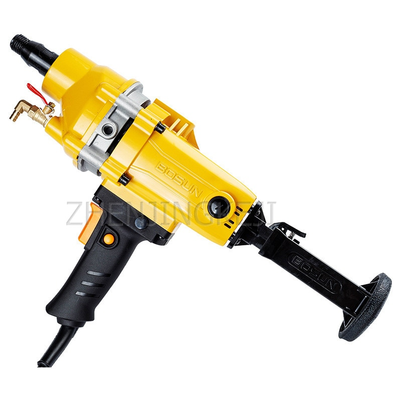 220V Handheld Driller Home Drill Engineering Drilling Rig Water Rig Concrete Drilling Machine High Power Cut Out Electric Tools