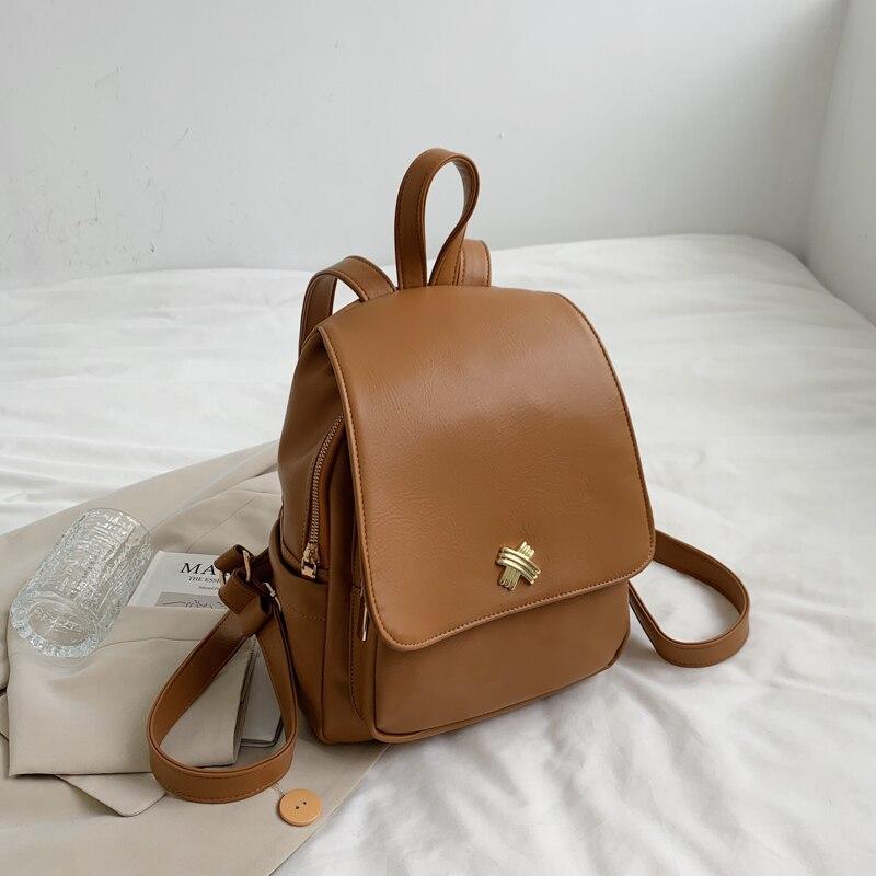 Новинка весна-осень 2021, женские рюкзаки из мягкой кожи, винтажные женские сумки на плечо, женские повседневные Рюкзаки, рюкзаки