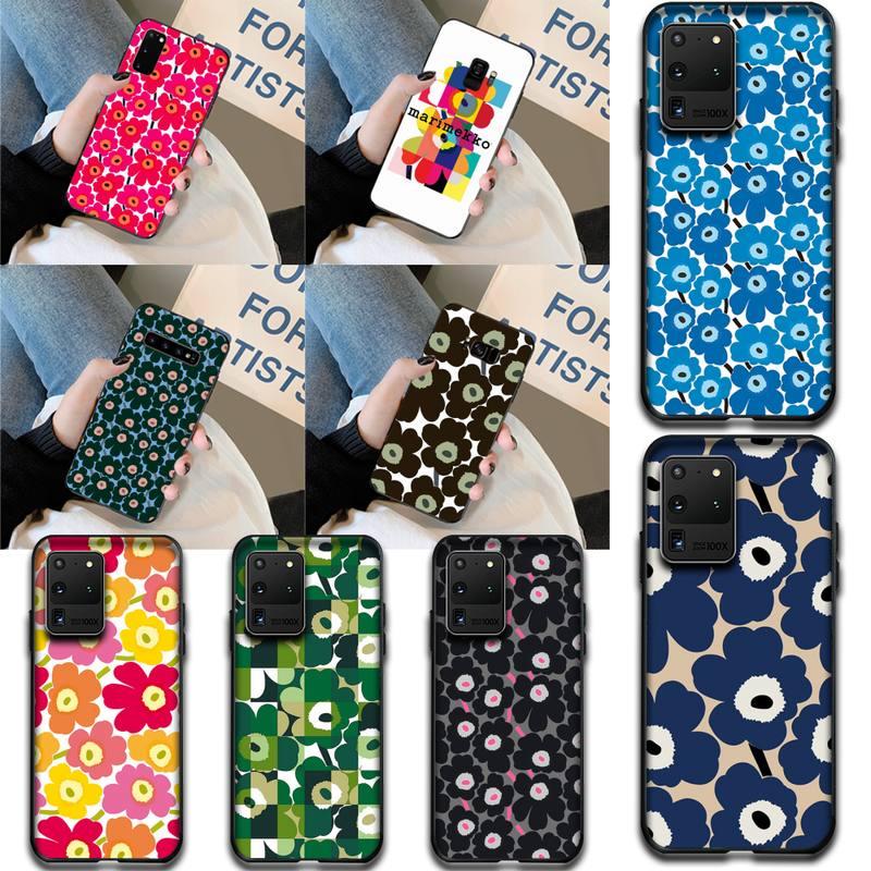 Cutewanan roupas marca marimekko tpu macio silicone caso do telefone capa para samsung s20 plus ultra s6 s7 borda s8 s9 mais s10 5g