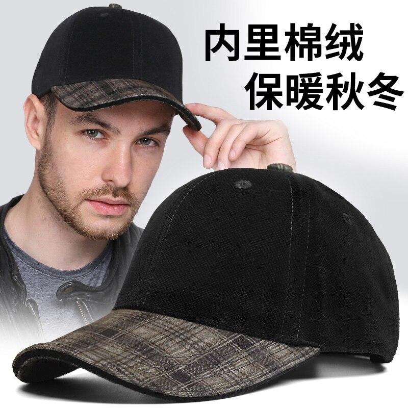 Pai inverno quente e confortável velveteen boné de beisebol grande cabeça homem ao ar livre grande tamanho pico chapéus 55-62cm